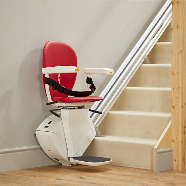 Bespke stairlifts synergy straight lift ruby