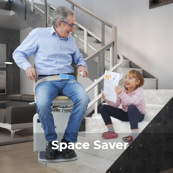 Handicare 2000 stairlift Spacious design