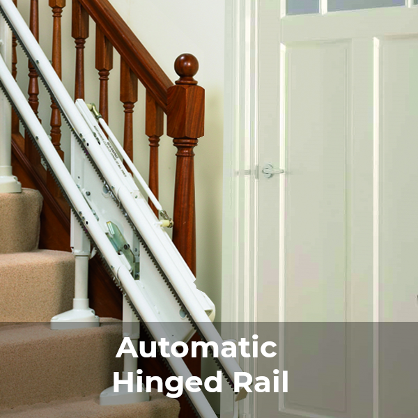 Handicare 2000 stairlift automatic hinged rail