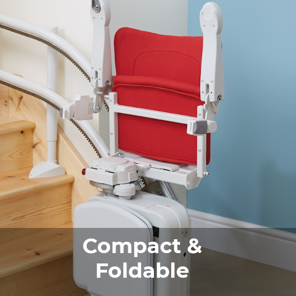 Handicare 2000 stairlift compact and foldable