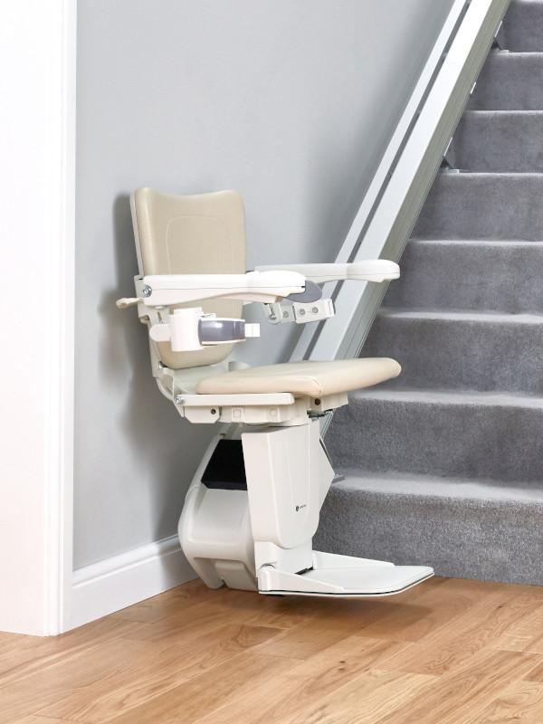 Handicare 1100 stairlift bottom of stairs