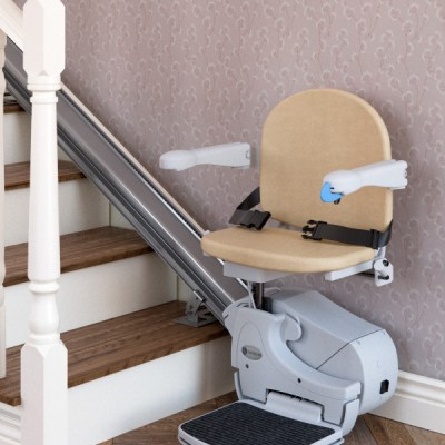 Handicare 950 stairlift at base of stairs