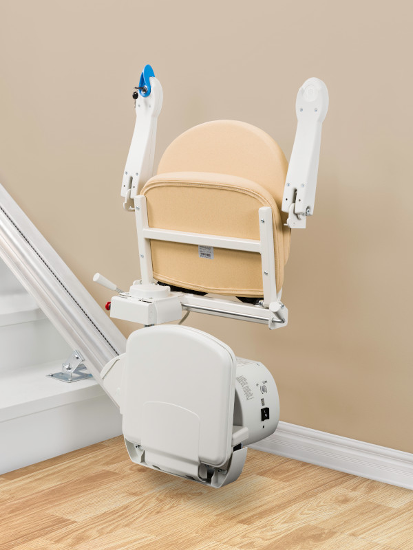 Handicare 950 stairlift folded and compact